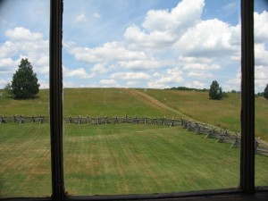 Buck Hill through the Stone House Windows