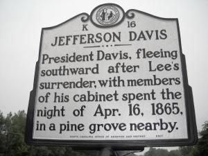 Jefferson Davis Marker